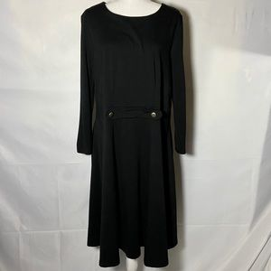Eloquii Black Knit Long Sleeve Dress 16